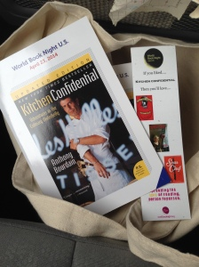 My WBN 2014 choice was Kitchen Confidential.