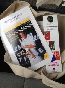 My WBN 2014 choice was Kitchen Confidential.