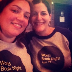 Kathy and I in our WBN shirts. April 23, 2014.